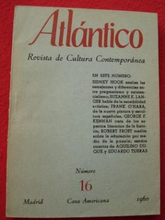 ATLÁNTICO. Revista de Cultura Contemporánea. Número 16, 1960. Casa Americana - Madrid - Ver os detalles do produto