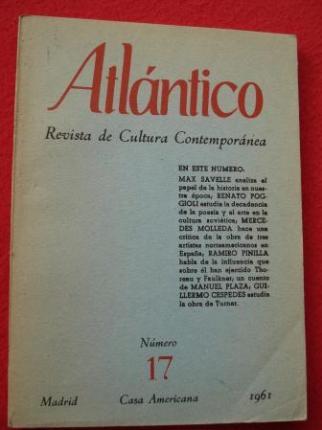 ATLÁNTICO. Revista de Cultura Contemporánea. Número 17, 1961. Casa Americana - Madrid - Ver os detalles do produto