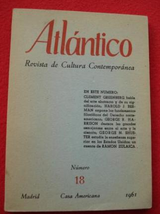 ATLÁNTICO. Revista de Cultura Contemporánea. Número 18, 1961. Casa Americana - Madrid - Ver os detalles do produto