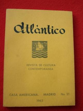 ATLÁNTICO. Revista de Cultura Contemporánea. Número 21, 1963. Casa Americana - Madrid - Ver os detalles do produto