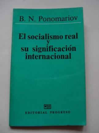 El socialismo real y su significación internacional - Ver os detalles do produto