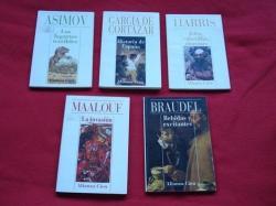 Ver os detalles de:  Lote de 4 libros: Ensaístas (Historia, ciencia...)