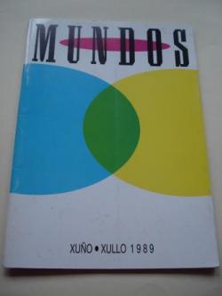 Ver os detalles de:  MUNDOS. ARTE - POESÍA. Catálogo exposición Casa da Parra, Santiago de Compostela, xuñi-xullo,1989.