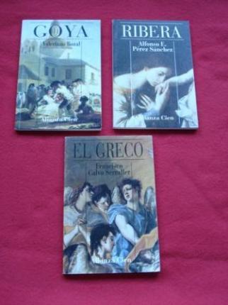 Lote de 3 libros: Biografías de pintores españoles - Ver os detalles do produto