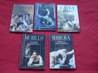 Lote de 5 libros: Biografías de pintores españoles - Ver os detalles do produto
