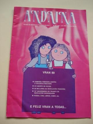ANDAINA. Revista do Movimento Feminista Galego. 1ª época. Nº 18, xuño-xullo, 1989 - Ver los detalles del producto