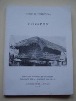 Ver os detalles de:  Hórreos. Sobre los hórreos. Tres trabajos de estudiantes. Separta de El Museo de Pontevedra, tomo XXVIII