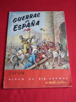 Álbum de cromos GUERRAS DE ESPAÑA - Ver os detalles do produto