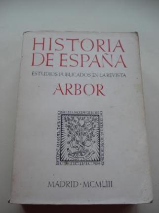 Historia de España. Estudios publicados en la Revista ARBOR - Ver os detalles do produto