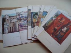 Ver os detalles de:  18 cartas y menú de restaurante ilustradas por 18 pintores. Colección Ybarra, Sevilla