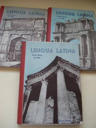 Lengua Latina. 3 tomos: Primer Curso / Segundo Curso / Tercer Curso - Ver os detalles do produto