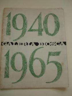Ver os detalles de:  COLMEIRO. Catálogo Exposición Galería Biosca - Madrid, 1965