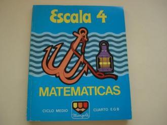 Matemáticas Escala 4. Ciclo medio. Cuarto EGB - Ver os detalles do produto