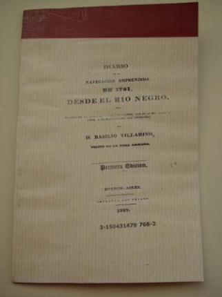 Diario de la navegación emprendida en 1781 desde el río Negro por Basilio Villarino (Basilio Vilariño) - Ver los detalles del producto
