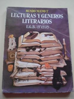 Ver os detalles de:  Lecturas y géneros literarios. Mundo Nuevo 7º EGB Anaya