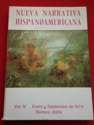 Nueva Narrativa Hispanoamericana. Vol. IV - Enero y Septiembre de 1974. Número doble  - Ver os detalles do produto
