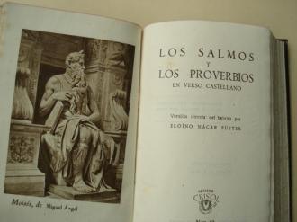 Los Salmos y los Proverbios en verso castellano (Versión directa del hebreo por Eloíno Nácar Fuster) - Ver os detalles do produto