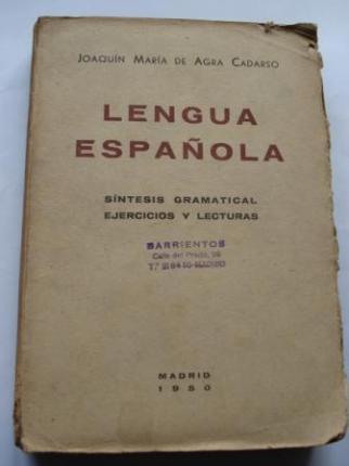Lengua Española. Síntesis gramatical. Ejercicios y lecturas - Ver os detalles do produto