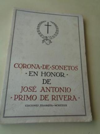 Corona de sonetos en honor de José Antonio Primo de Rivera - Ver os detalles do produto