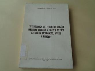 Introducción al fenómeno urbano medieval gallego, a través de tres ejemplos: Mondoñedo, Vivero y Ribadeo - Ver los detalles del producto
