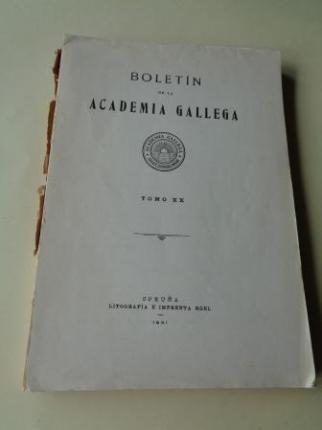BOLETÍN DE LA ACADEMIA GALLEGA. Tomo XX. 1931 (Números 235 a 240). Intonso - Ver los detalles del producto