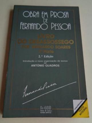 Livro do desassossego por Bernardo Soares 2ª parte - Ver los detalles del producto