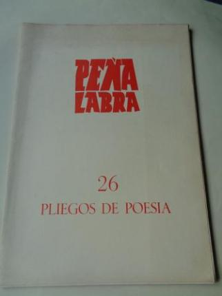 PEÑA LABRA. Pliegos de poesía, nº 26. Invierno 1977-78. Carpeta con 5 cuadernos en pliegos - Ver los detalles del producto