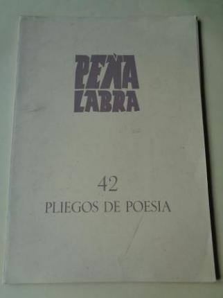 PEÑA LABRA. Pliegos de poesía, nº 42. Invierno 1981-82. Carpeta con 5 cuadernos en pliegos - Ver os detalles do produto