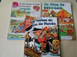 Ver os detalles de:  Colección completa AS AVENTURAS DUN NENO GALEGO: Os homes do fin do mundo - Os fillos de Breogán - A grande viaxe polo río (Ilustrados por Bofill)
