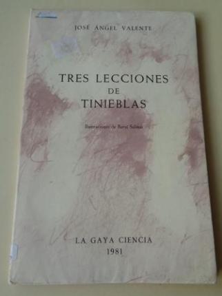 Tres lecciones de tinieblas (Con hoja de autolectura 2ª edición) - Ver os detalles do produto