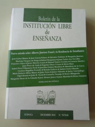 Boletín de la Institución Libre de Ensañanza. II época. Diciembre 2010. Nº 78-79-80 - Ver os detalles do produto