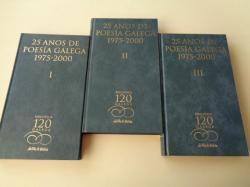 Ver os detalles de:  25 anos de poesía galega 1975-2000. 3 tomos