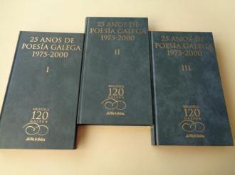 25 anos de poesía galega 1975-2000. 3 tomos - Ver os detalles do produto