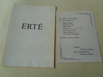 ERTÉ. Catálogo Exposición Galería Juana Mordo, Madrid, 1975 - Ver los detalles del producto