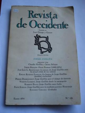 REVISTA DE OCCIDENTE. Núm. 130. Monográfico dedicado a Jorge Guillén. Enero 1974. - Ver os detalles do produto