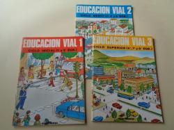 Ver os detalles de:  Educación vial 1(Ciclo inicial, 1º y 2º EGB) / Educación vial 2 (Ciclo medio. 3º, 4º y 5º EGB) / Educación vial 3 (Ciclo superior. 6º, 7º y 8º EGB) Santillana, 1980