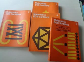 Lote libros Matemática 2, 3, 4 y 5 (Santillana, 1977 - 1978 - 1979) - Ver os detalles do produto