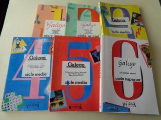 6 libros. Galego. Ciclo Inicial. Ciclo Medio. Ciclo Superior. Colectivo ESTEO / Colectivo VIEIRO (Vía Láctea, 1985) - Ver os detalles do produto