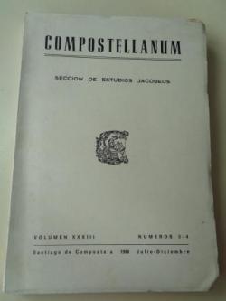 Ver os detalles de:  COMPOSTELLANUM. Sección de Ciencias Eclesiásticas. Volumen XXXIII, números 3-4. Julio-Diciembre, 1988