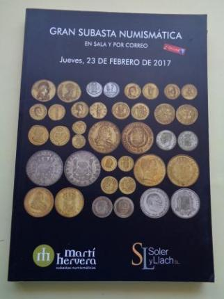Gran subasta numismática en sala y por correo. Martí Hervera - Soler y Llach, 23 de febrero de 2017 - Ver os detalles do produto