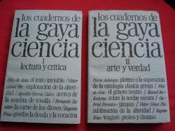 Ver os detalles de:  Los cuadernos de La Gaya Ciencia. VOL. I - II - III - IV