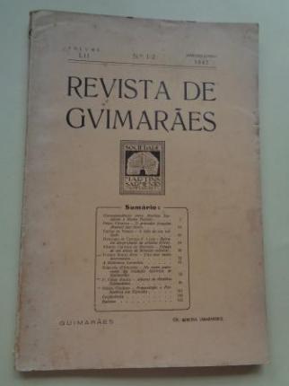 REVISTA DE GUIMARÂES. Janeiro - Junho 1942 (Vol. LII - Números 1 -2) - Ver os detalles do produto