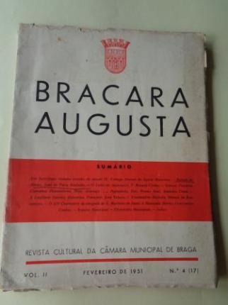 BRACARA AUGUSTA. Revista Cultural da Câmara Municipal de Braga. Fevereiro 1951. (Vol. II - Nº 4 (17)) - Ver los detalles del producto