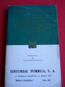 Ver os detalles de:  Libro de poemas - Poema del cante jondo - Romancero gitano - Poeta en Nueva York - Odas...