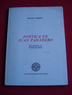 Ver os detalles de:  Poética de Juan Panadero