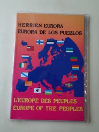 Herrien Europa- Europa de los pueblos - L´Europe del peuples - Europe of the peoples (Libro + mapa) - Ver os detalles do produto