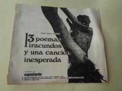 Ver os detalles de:  13 poemas iracundos y una canción inesperada (Separata de Expediente, Revista trimestral, nº 2 - Julio, agosto, septiembre, 1970)