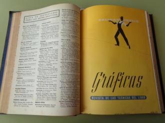 GRÁFICAS. Revista de las Técnicas del Libro. Año 1950 completo (Números 67 a 78) - Ver os detalles do produto