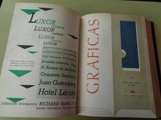 GRÁFICAS. Revista de las Técnicas del Libro. Año 1953 completo (Números 103 a 114) - Ver los detalles del producto