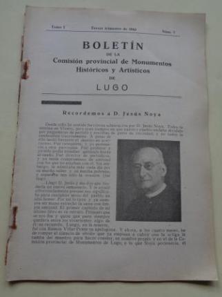 Boletín de la Comisión Provincial de Monumentos Históricos y Artísticos de Lugo. Nº 7, Tercer trimestre de 1943 - Ver os detalles do produto